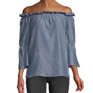 Martha Off-The-Shoulder Flare Sleeve Blouse